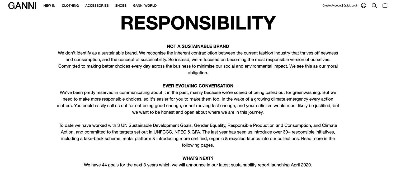 La responsabilità di Ganni