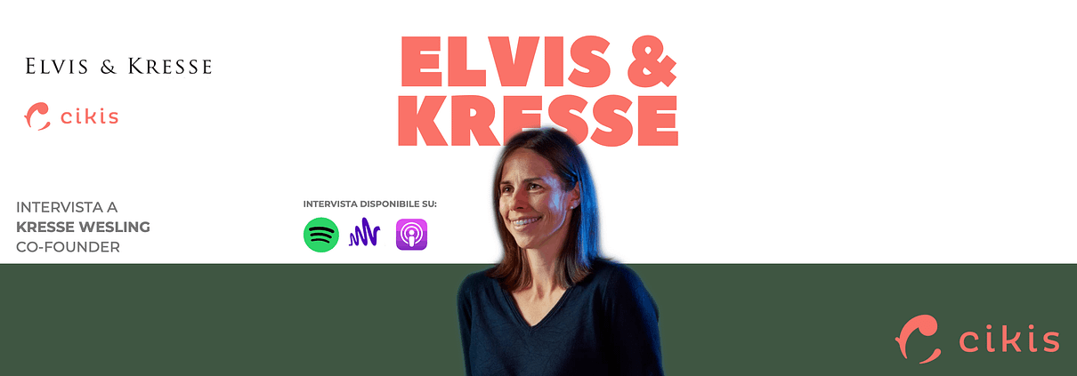 Kresse Wesling, co-founder di Elvis & Kresse